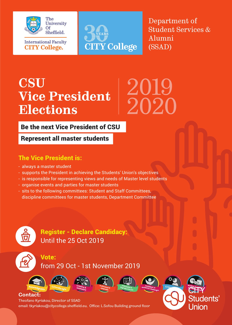 CSU Vice President Elections 2019-20