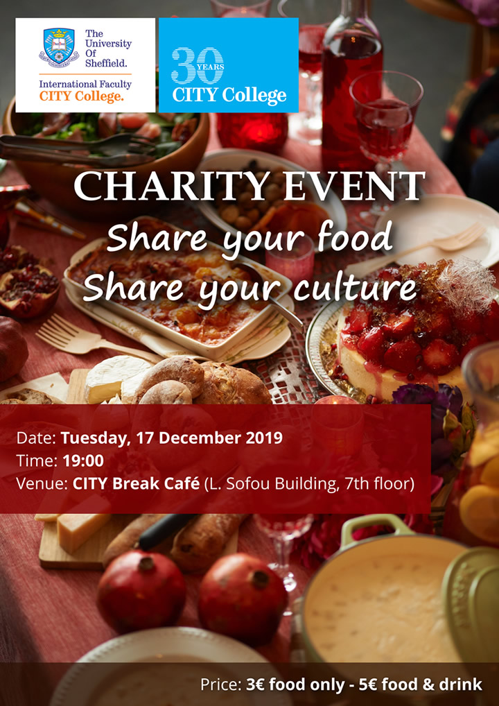 Charity Event: Share your food, share your culture