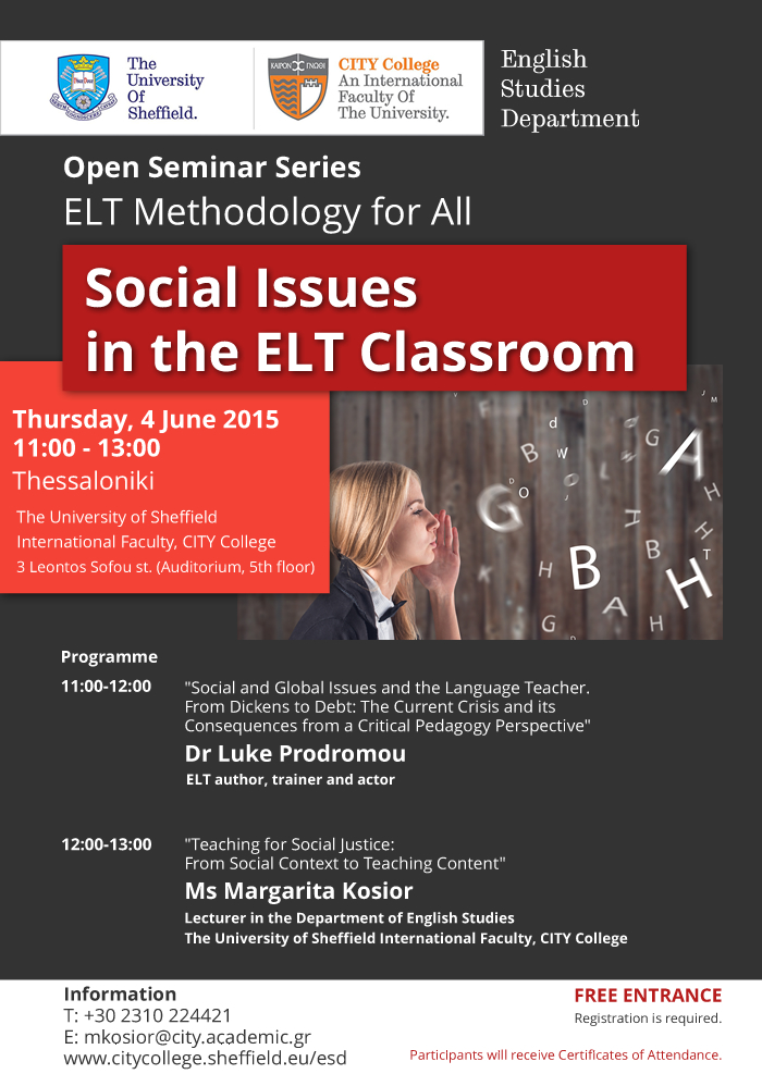 Open Seminar Series 'ELT Methodology for All'(FREE ENTRANCE)