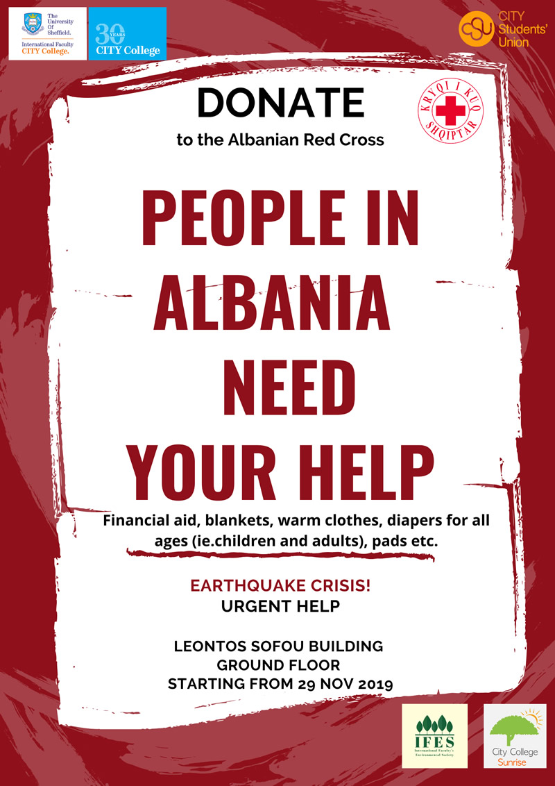 People in Albania need your help