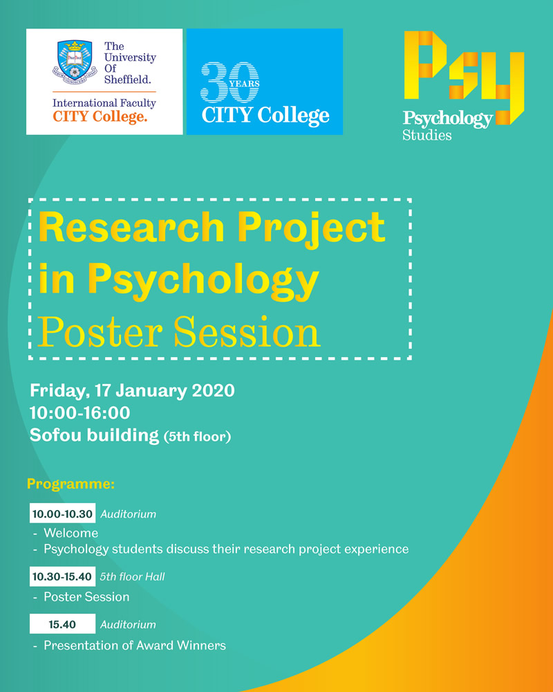 Research Project in Psychology Poster Session
