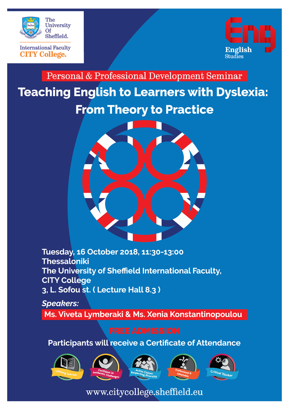 Seminar: Teaching English to Learners with Dyslexia