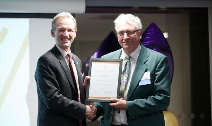 The Alumni Leadership Award was collected by Chris Furness on Mirela Arqimandriti's behalf