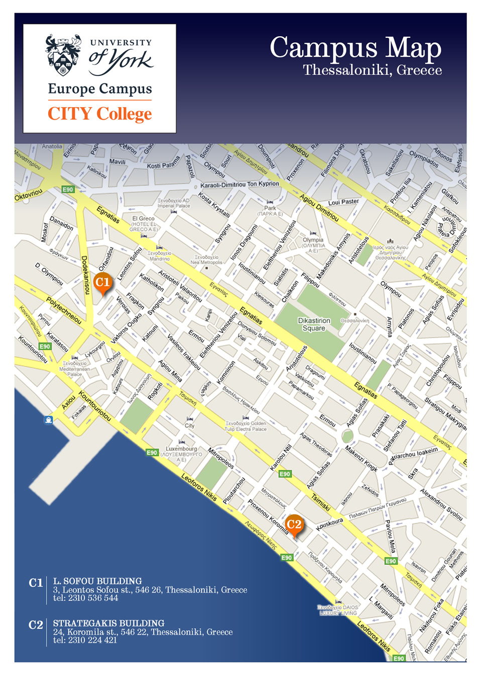 CITY College campus map