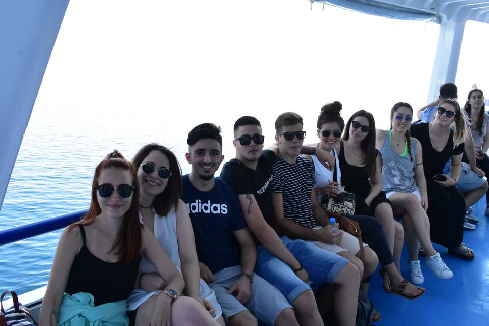 CITY College student summer trip to Skiathos island