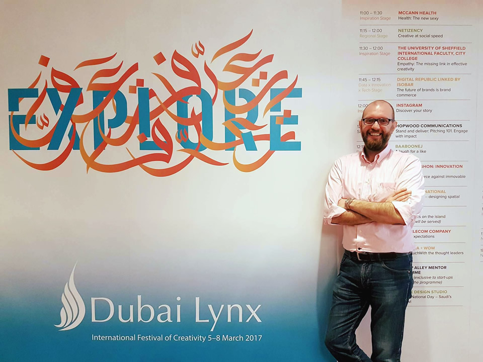 Dr Dimitriadis at Dubai Lynx, the biggest advertising event in the Middle East
