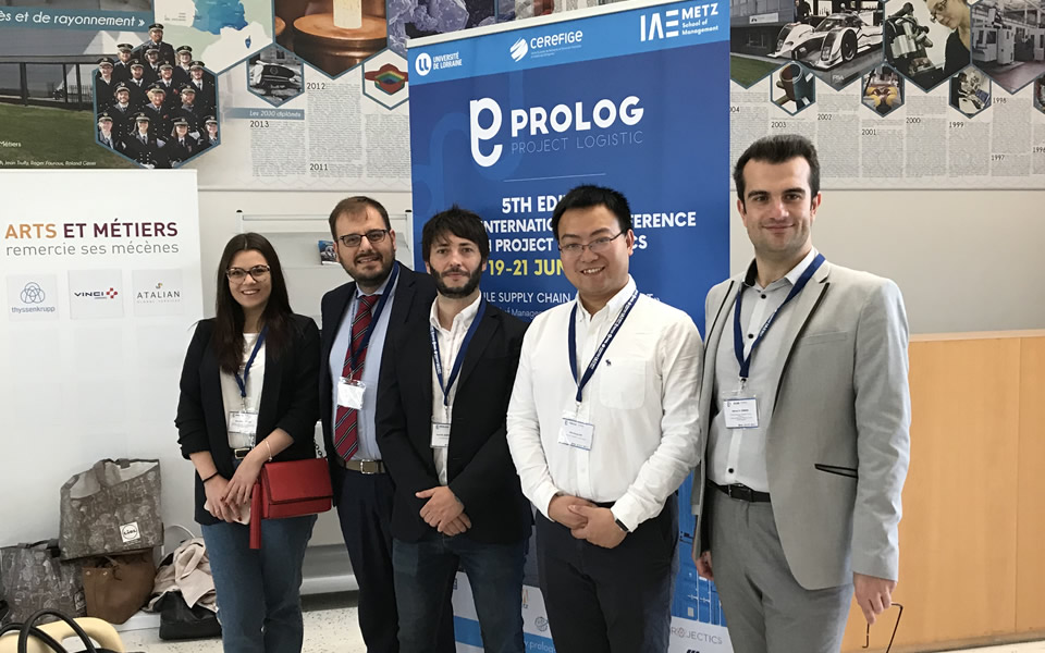 Dr Adrian Solomon, Lecturer at CITY College International Faculty Business Administration & Economics Department and Ms Ilina Atanasovska, final year bachelors student participated in PROLOG 2019 International Conference in France