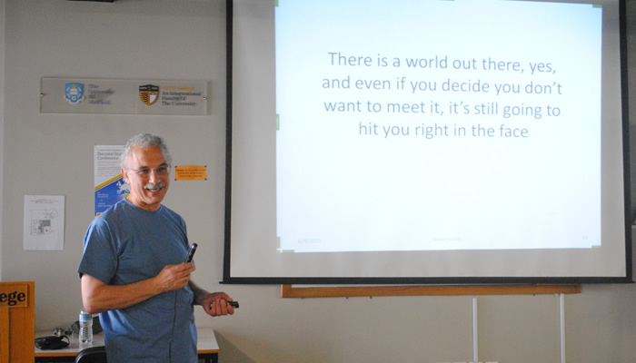 Dr Luke Prodromou, our guest speaker, delivered a very interactive and entertaining session