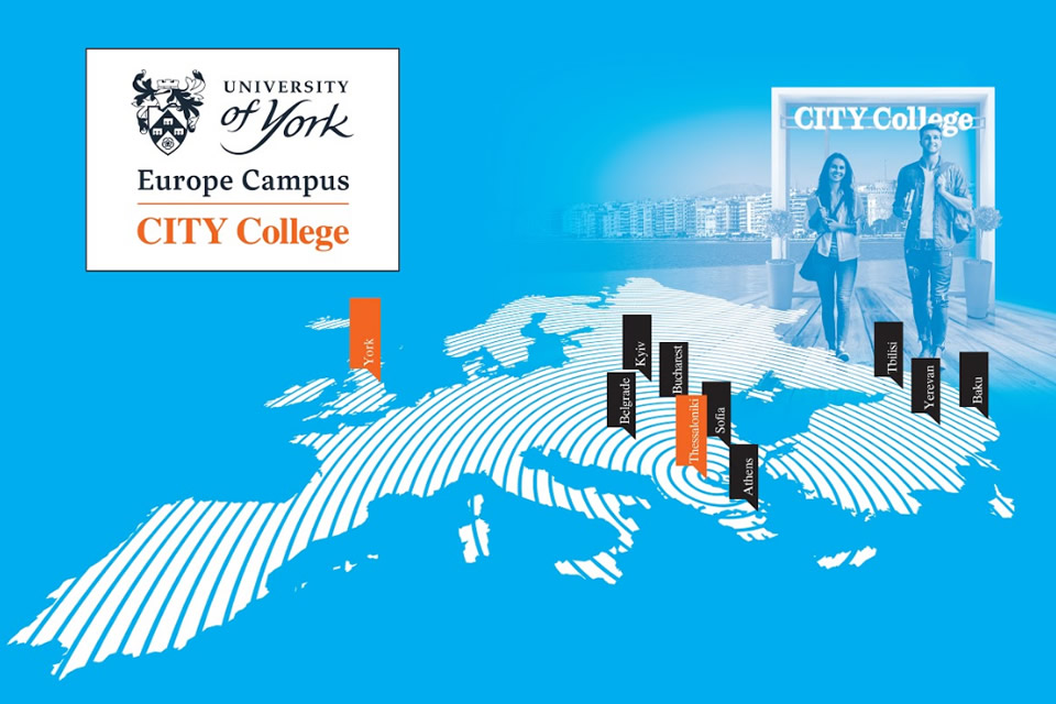 CITY College becomes the first Campus of a top British university in the wider region: The University of York Europe Campus