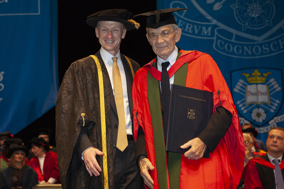 Honorary Degree of Doctor of Letters was conferred upon Mr Yiannis Boutaris, Mayor of Thessaloniki - The University of Sheffield International Faculty CITY College Graduation Ceremony 2018
