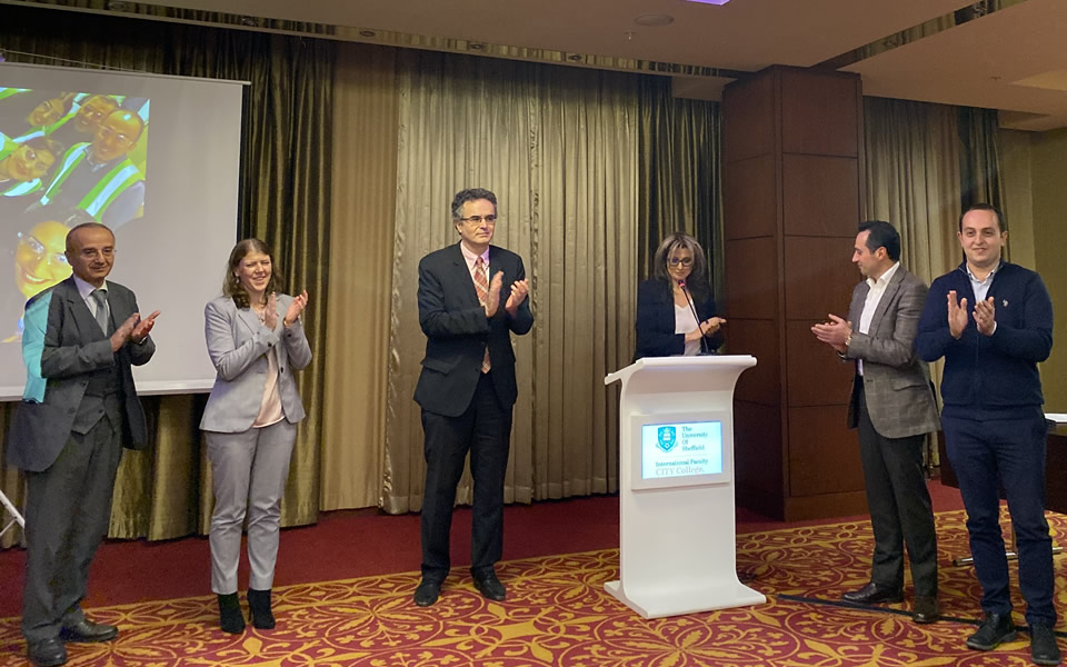 Award Ceremony for CITY College's first Executive MBA graduates in Yerevan