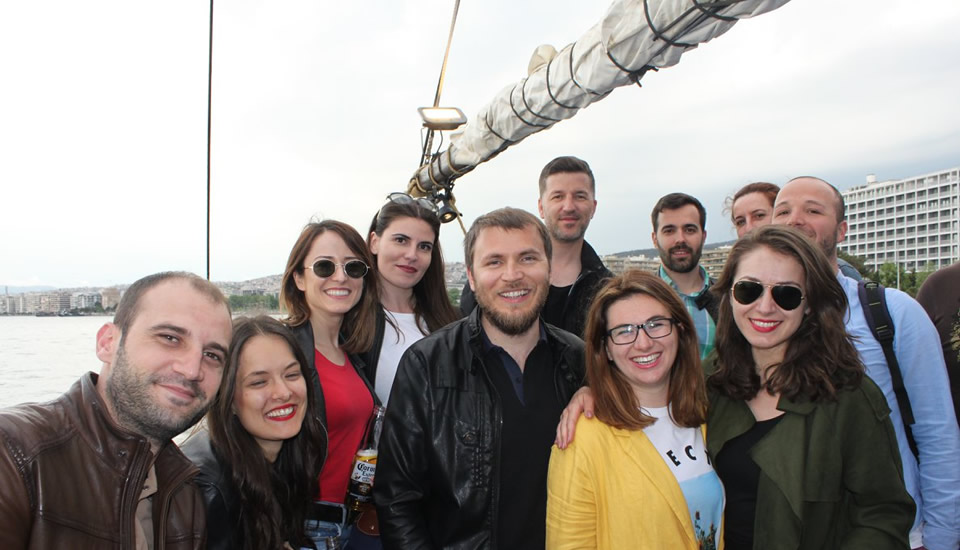 Sheffield Executive MBA Annual Study Week 2018 in Thessaloniki - Boat cruise in Thermaikos Gulf