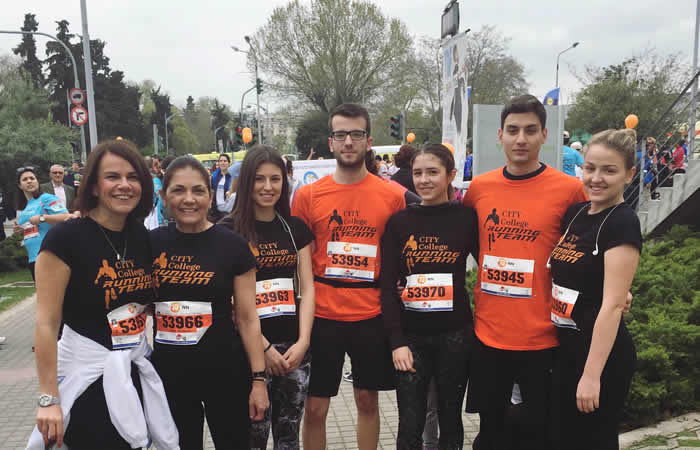 CITY College Running Team at the 11th 'Alexander the Great' International Marathon