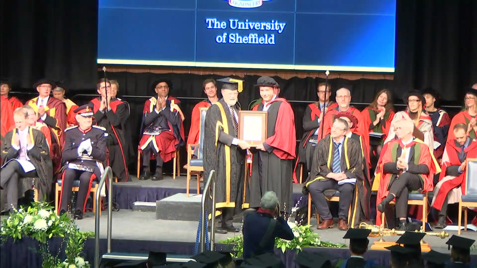 Prof. Petros Kefalas receives Senate Award at the Graduation Ceremony of the University of Sheffield
