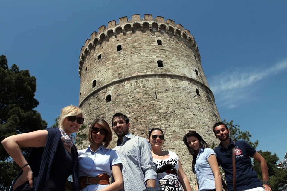 CITY College International Faculty students strolling around Thessaloniki