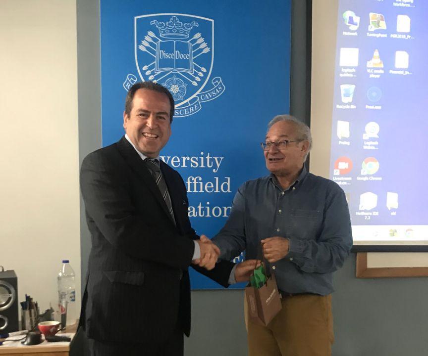 Professor Panayiotis Ketikidis, Vice Principal of CITY College and Chairman of our research centre, SEERC, warmly thanked Prof. Demetriou for his honouring the event with his participation