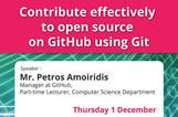 Professional Skills Seminars: Contribute effectively to open source on GitHub using Git