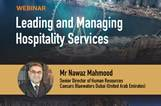 Leading and Managing Hospitality Services Webinar with Mr nawaz Mahmood
