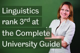 Linguistics rank 3rd at the Complete University Guide