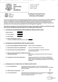 Master of Science diploma