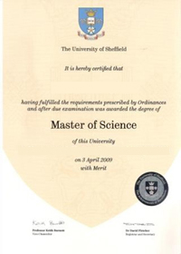 Master of Science degree