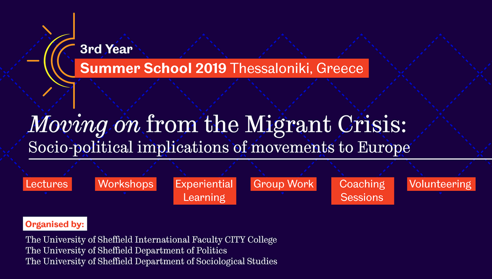 Summer School 2019 - Moving on from the Migrant Crisis: Socio-political implications of movements to Europe
