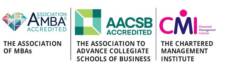 The University of Sheffield Executive MBA is accredited by AMBA, AACSB, CMI