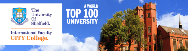 Study at a World Top 100 University - The University of Sheffield International Faculty, CITY College